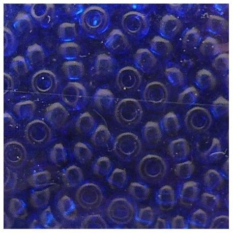 Perles de rocaille sachet 15g transparent 2mm bleu hortensia