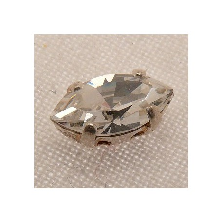 Perle strass swarovski navette cristal 5x10mm