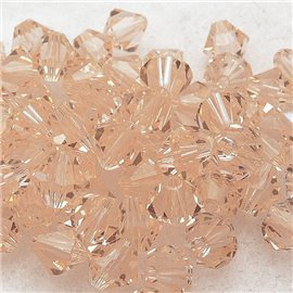 perle toupie swarovski light golden shadow 6mm qu10