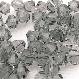 perle toupie swarovski gris smoked 6mm qu10