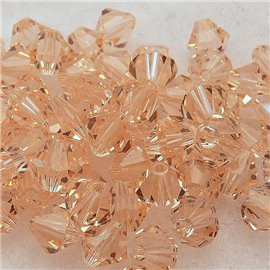 10 perles Swarovski Toupies light pêche 6mm