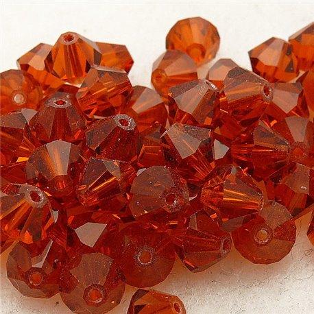perle toupie swarovski orange indiana red 6mm qu10