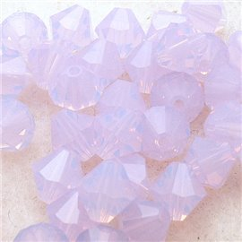 Perles Swarovski Toupies rose spécial 6mm qu10