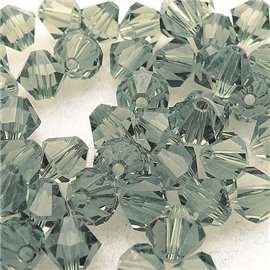 10 perles Swarovski Toupies vert light 6mm