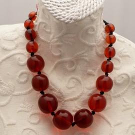 collier-fantaisie-lien-noir-boules-rouges-45-cm-bijou-createur-manouk-ref-00596