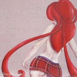 Carte postale Aurélie Rhumeur écolière modèle