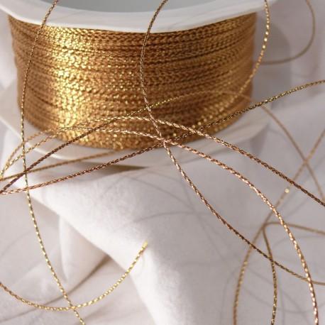 Ruban cordon doré gloss 1mmx100m Rouleau