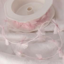 Ruban cordon rose  2cm x 2m fluffy cord