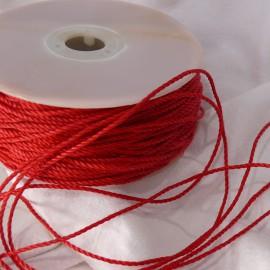 Ruban tissu cordon rouge 1mm x 5m Corda