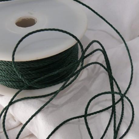 Ruban tissu cordon vert 1mm x 5m corda