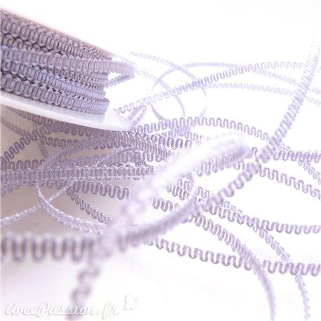 Ruban tissu lilas 3mm x 5m frisette
