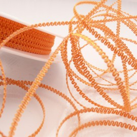 Ruban tissu orange 3mm x 5m frisette