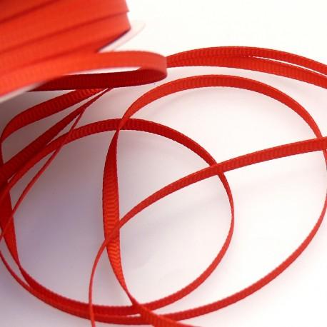Ruban tissu coton rouge 3mm x 4m
