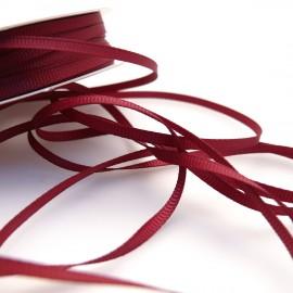 Ruban tissu coton bordeaux 3mm x 1m