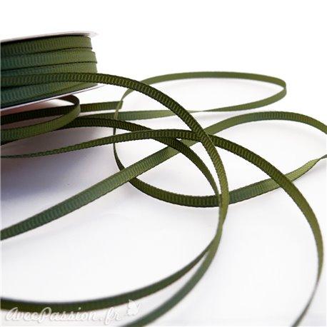 Ruban tissu olive 3mm x 4m