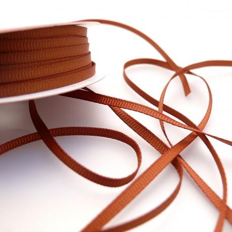 Ruban tissu coton cuivre 3mm x 4m