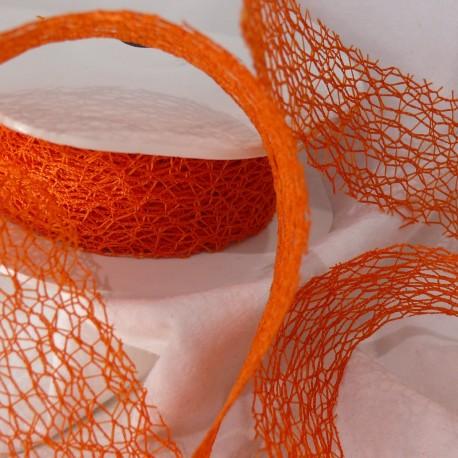 Ruban tissu orange 3cm x 5m crispy
