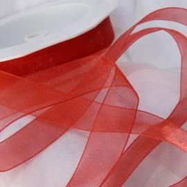 Ruban organza uni rouge 1.5cmx50m Rouleau