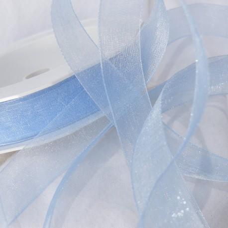 Ruban organza uni bleu ciel 1.5cmx50m Rouleau