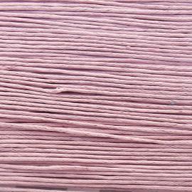 Cordon ciré coton rose 1mmx20m
