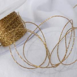 Ruban tissu cordon or 1mm x 10m