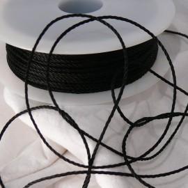 Cordonnet acétate noir 1mm x 5m