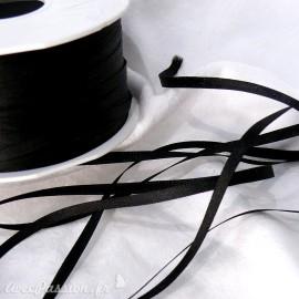 Ruban satin uni noir 3mm x 2m