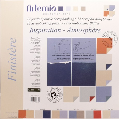 Papier scrapbooking assortiment finistere 12fe recto verso