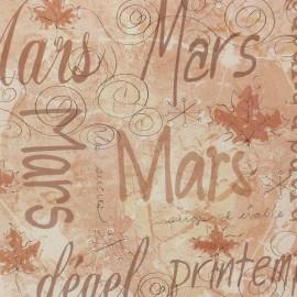 Papier scrapbooking magenta mars