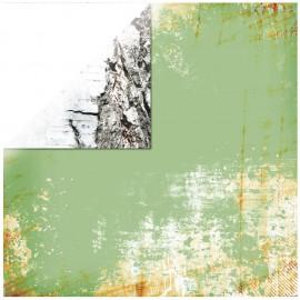 Papier scrapbooking réversible lisse écorces arbre