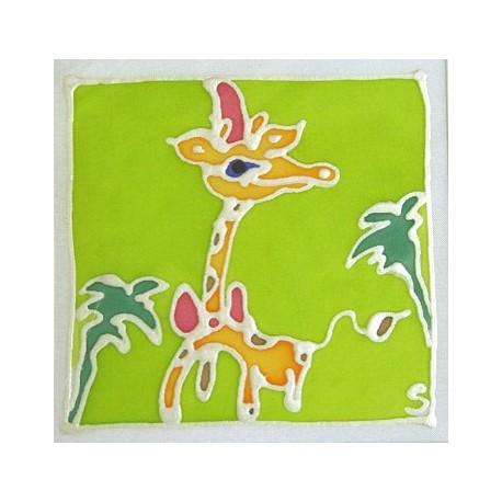 carte postale encadrement soie girafe achat vente. Black Bedroom Furniture Sets. Home Design Ideas