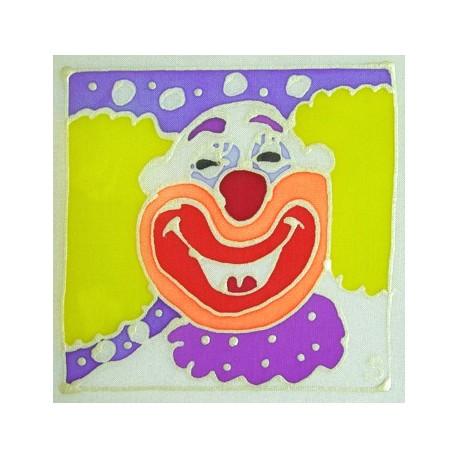 Carte postale soie clown