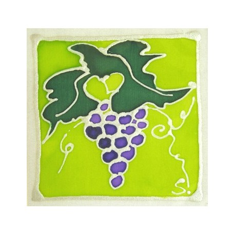 Carte postale soie grappe de raisin
