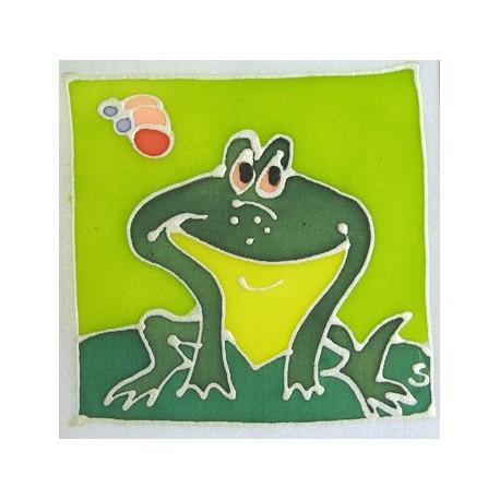 carte postale encadrement soie grenouille achat vente. Black Bedroom Furniture Sets. Home Design Ideas