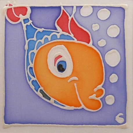 Carte postale soie poisson