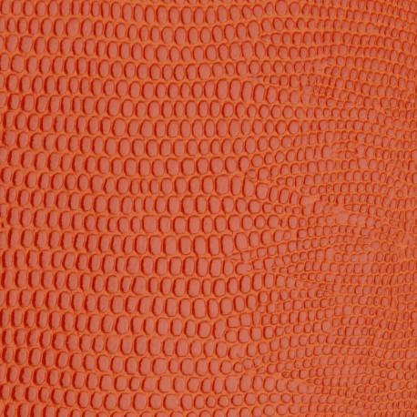 papier-skivertex-cuir-lezard-orange-papier-cartonnage-meuble-carton