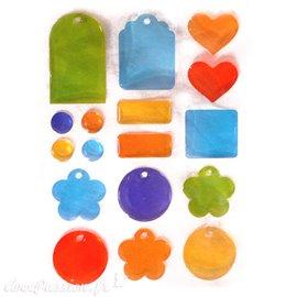 Stickers adhésifs bubble couleurs vives