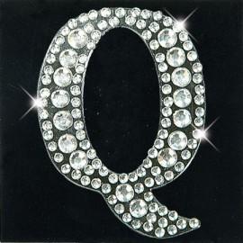 Strass autocollant sticker lettre Q