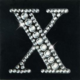 Strass autocollant sticker lettre X