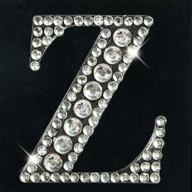 Strass autocollant sticker lettre Z