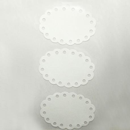 Etiquettes blanches ovales adhésives
