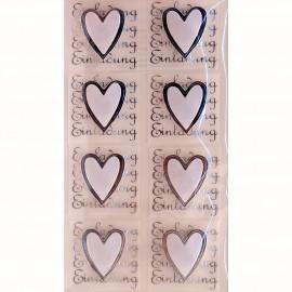 Stickers adhésifs coeur invitation