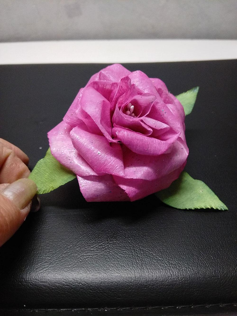 réalisation d'une fleur en filtre à café