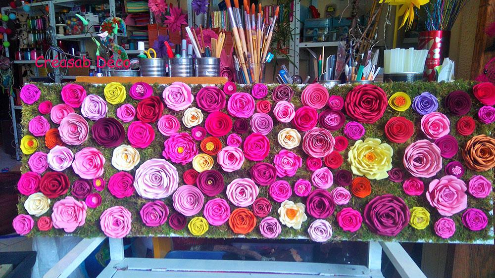 creation fleurs enroulées