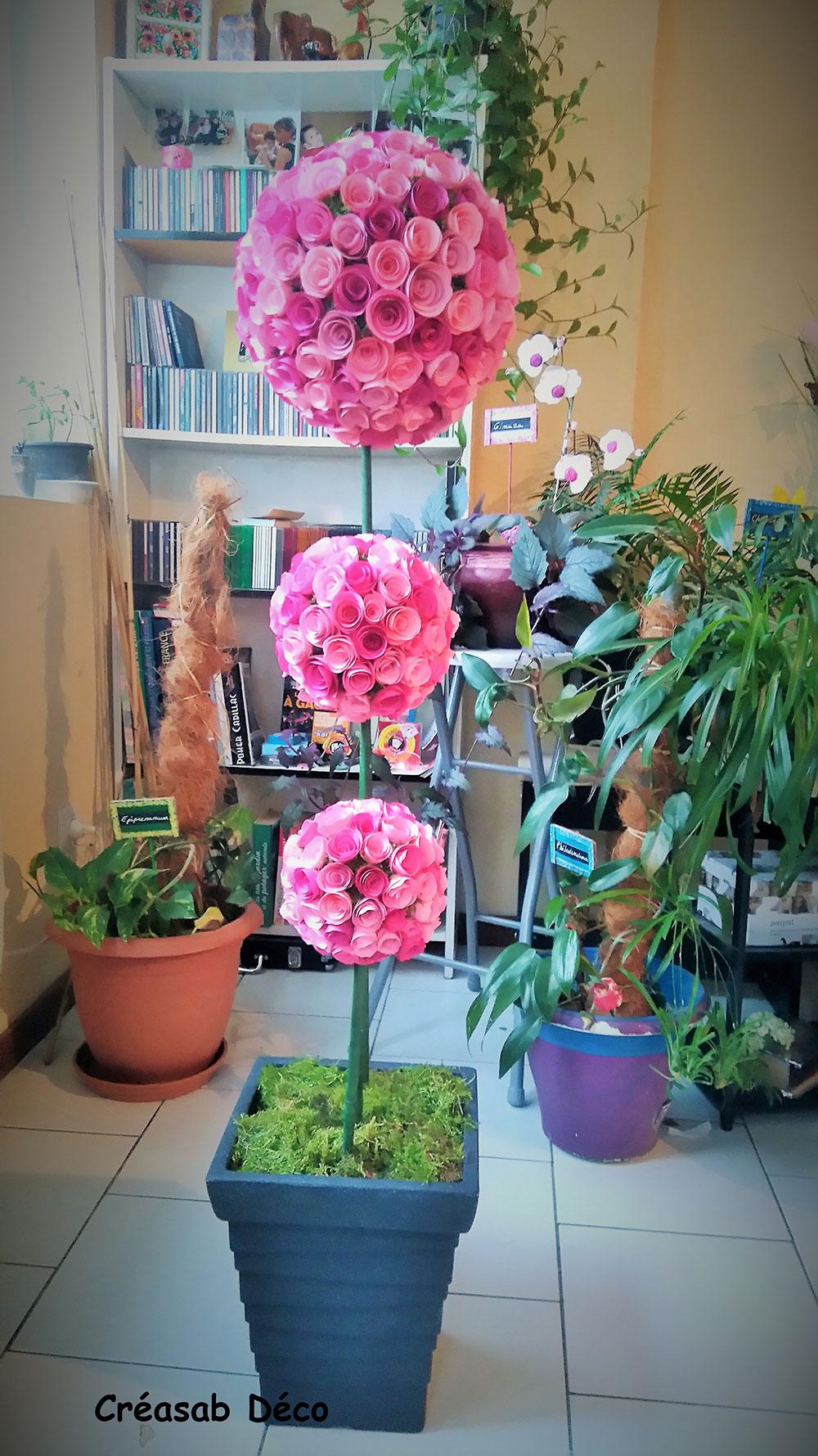 réalisation d'une fleur en papier de soie